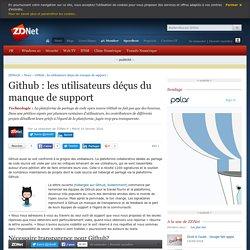 Github : les utilisateurs déçus du manque de support - ZDNet