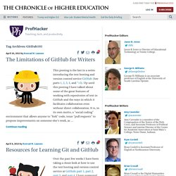 GitHub101 – ProfHacker - Blogs - The Chronicle of Higher Education