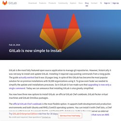 GitLab is now simple to install
