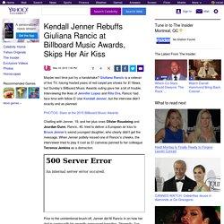 Kendall Jenner Rebuffs Giuliana Rancic at Billboard Music Awards, Skips Her Air Kiss
