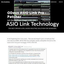 Give Academy - ODeus ASIO Link Pro - Patcher
