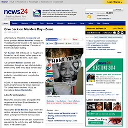 Give back on Mandela Day - Zuma