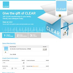 Give the gift of CLEAR
