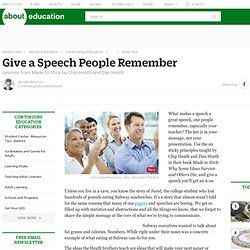 How to Give a Memorable Speech (Chip Heath and Dan Heath)