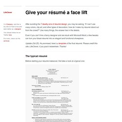 Give your résumé a face lift