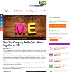 Give Your Company Profile Some TLC