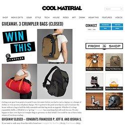 GIVEAWAY: 3 Crumpler Bags