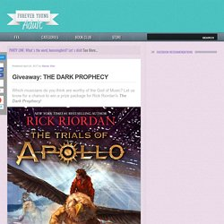 Giveaway: THE DARK PROPHECY