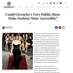 Givenchy NYFW Public Fashion Show