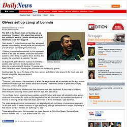 Givers set up camp at Lonmin - Daily News