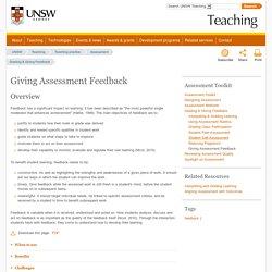 Giving Assessment Feedback