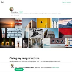 Giving my images for free – Medium