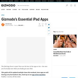 s Essential iPad Apps - Best ipad apps - Gizmodo
