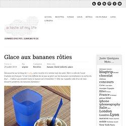Glace aux bananes rôties