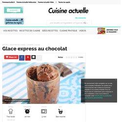 Glace express au chocolat, facile et pas cher