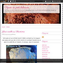 Glace vanille au Thermomix