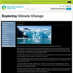 Glaciers - Evidence - Exploring Climate Change