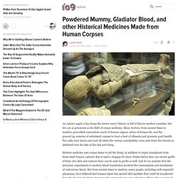Powdered Mummy, Gladiator Blood, and other Historical Medicines Made from Human Corpses
