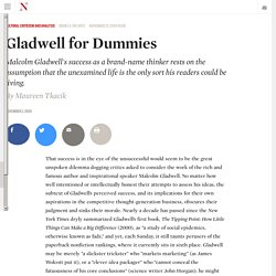 Gladwell for Dummies
