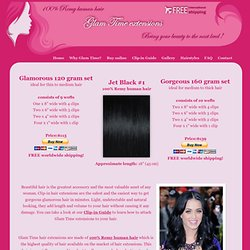 Glam Time hair extensions Jet Black #1 | Clip in 100% Remy Human Hair Extensions 18 inch 45 cm 120 gram