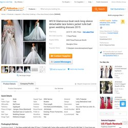 W518 Glamorous Boat Neck Long Sleeve Detachable Lace Bolero Jacket Tulle Ball Gown Wedding Dresses 2015 - Buy Ball Gown Wedding Dresses,Wedding Dresses 2015,Long Sleeve Wedding Dresses Product on Alibaba.com