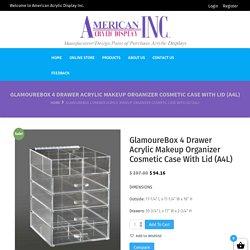 GlamoureBox 4 Drawer Acrylic Makeup Organizer Cosmetic Case