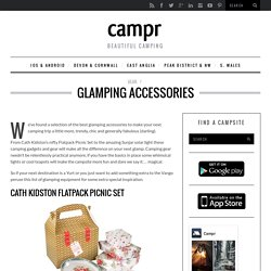 Glamping accessories
