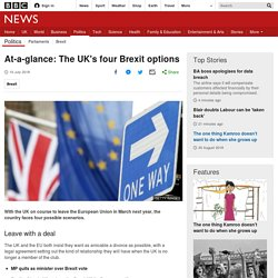 At-a-glance: The UK's four Brexit options