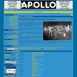 Glasgow Apollo / Who Played When