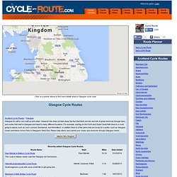 Glasgow Cycle routes - Cycle Route Planner