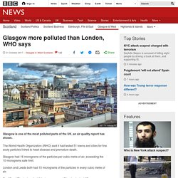 Glasgow more polluted than London, WHO says
