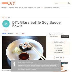 Glass Bottle Soy Sauce Bowls