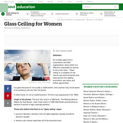 Glass Ceiling - What Is It? Does One Exist?