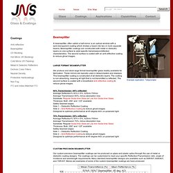 JNS Glass & Coatings - Beamsplitter