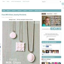 Faux Milk Glass Jewelry Pendants