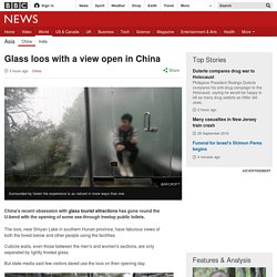 Glass loos with a view open in China