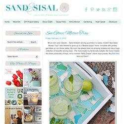 Sand and Sisal: Sea Glass Mosaic Tray
