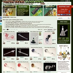 Glass pipes - buy in online smoke shop