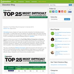 s Top 25 Most Difficult Companies To Interview (2013)