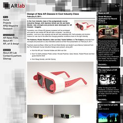 Design of New AR Glasses in Cool Industry Class