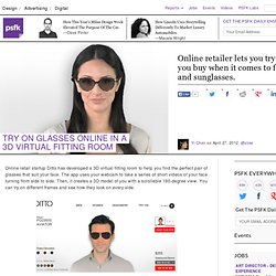 Try On Glasses Online In A 3D Virtual Fitting Room