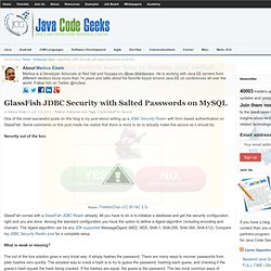 GlassFish JDBC Security with Salted Passwords on MySQL