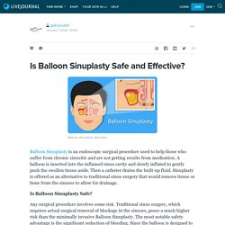 Balloon Sinuplasty Safe and Effective