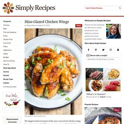 Miso Glazed Chicken Wings Recipe