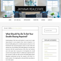 What Should You Do To Get Your Double Glazing Repaired?