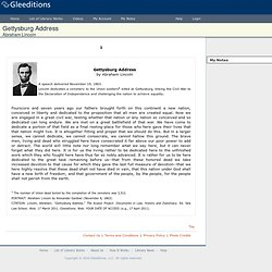 Rhetorical essay on the gettysburg address