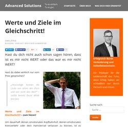 Werte und Ziele im Gleichschritt! - Advanced Solutions