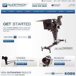 Portable video camera sliders and dolly from Glidetrack