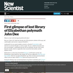 First glimpse of lost library of Elizabethan polymath John Dee