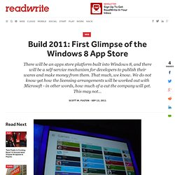 Build 2011: First Glimpse of the Windows 8 App Store - ReadWriteCloud